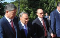 1478462 05/28/2013 President Vladimir Putin (second right) to attend the informal summit of Collective Security Treaty Organization members, May 28, 2013. From left: Presidents Almazbek Atambayev of Kyrgyzstan, Nursultan Nazarbayev of Kazakhstan and Emomali Rakhmon of Tajikistan, May 28, 2013. Aleksey Nikolskyi/RIA Novosti