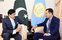 AMBASSADOR OF TAJIKISTAN IN PAKISTAN H.E. MR. SHERALI JONONOVE CALLED ON NATIONAL SECURITY ADVISER LT. GENERAL (RETD) NASEER KHAN JANJUA IN ISLAMABAD ON APRIL 12, 2017.