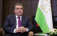 "SOCHI, RUSSIA. OCTOBER 6, 2015. Tajikistan's President Emomali Rahmon during a meeting with Russia's President Vladimir Putin (not pictured) at Bocharov Ruchei residence. Mikhail Metzel/TASS  Россия. Сочи. 6 октября 2015. Президент Таджикистана Эмомали Рахмон во время встречи с президентом России Владимиром Путиным в резиденции ""Бочаров ручей"". Михаил Метцель/ТАСС"