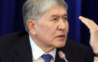 epa05654768 Kyrgyz President Almazbek Atambayev speaks during a news conference in Bishkek, Kyrgyzstan, 01 December 2016. Atambayev reassured he was not running for a second term, and answered questions of journalists regarding domestic and foreign policy of Kyrgyzstan.  EPA/IGOR KOVALENKO